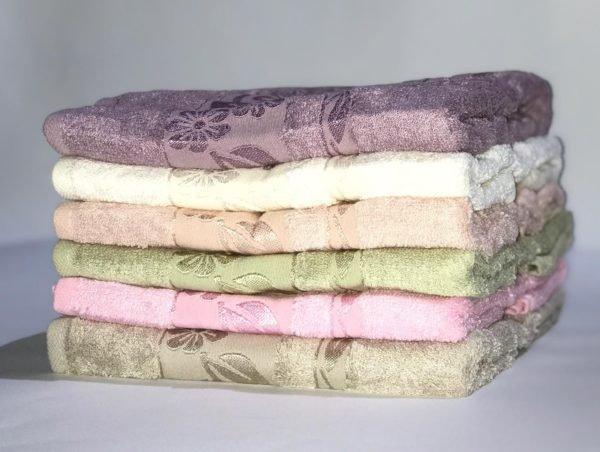 купить Набор махровых полотенец Miss Cotton Bamboo Flowers 6 шт  фото