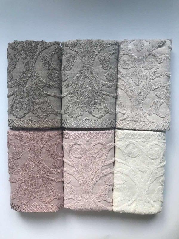 купить Набор махровых полотенец Sikel жаккард Perforge Jagarli 6 шт  фото