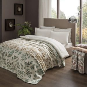купить Плед TAC Cotton Battaniye Larissa зеленый Зеленый фото