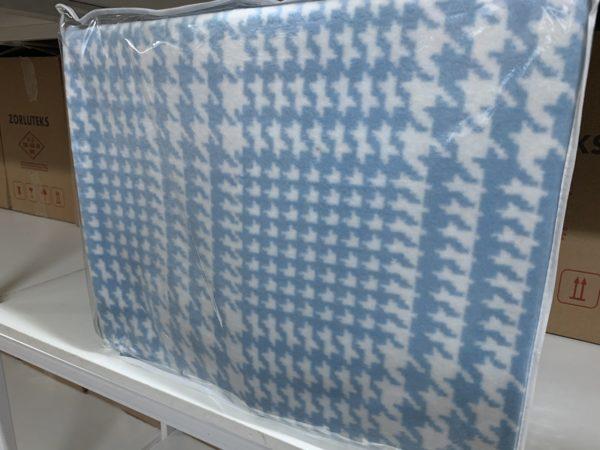 купить Плед TAC Cotton Battaniye Romy голубой Голубой фото