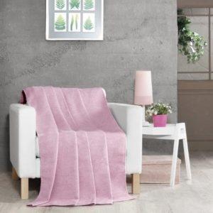 купить Плед Zugo Home хлопок-акрил Darcy однотонный розовый Розовый фото