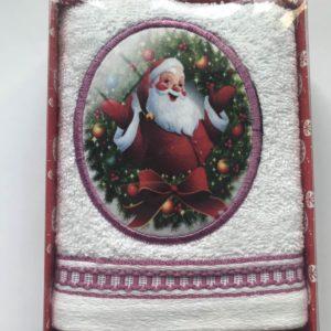 купить Полотенце Massimo Monelli Санта бант и кант темно розовое Красный фото
