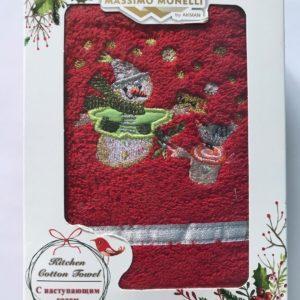 купить Полотенце Massimo Monelli Snowman красное Красный фото