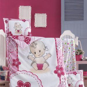 купить Постельное белье для младенцев Victoria Ранфорс Baby Розовый фото