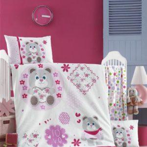купить Постельное белье для младенцев Victoria Ранфорс Baby Love Розовый фото