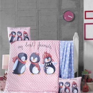купить Постельное белье для младенцев Victoria Ранфорс Best Friends Розовый фото