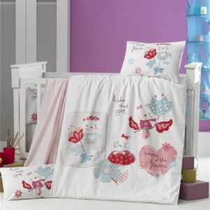купить Постельное белье для младенцев Victoria Ранфорс Happy Розовый фото