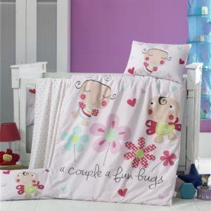 купить Постельное белье для младенцев Victoria Ранфорс Honey Bee Розовый фото