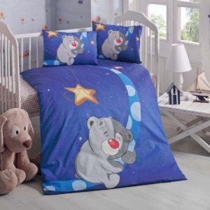 купить Постельное белье для младенцев Victoria Ранфорс Keyif Синий фото