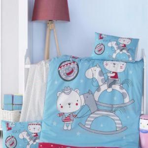 купить Постельное белье для младенцев Victoria Ранфорс Lets Голубой фото