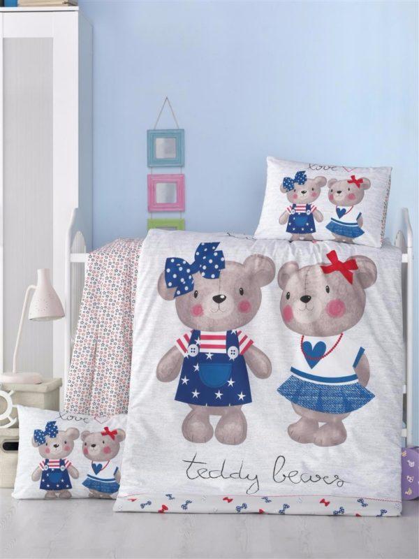 купить Постельное белье для младенцев Victoria Ранфорс Lover Голубой фото