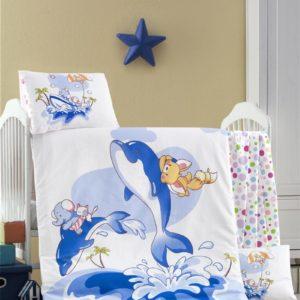 купить Постельное белье для младенцев Victoria Ранфорс Ocean Голубой фото