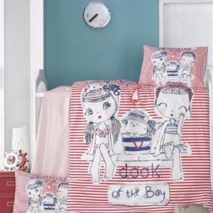 купить Постельное белье для младенцев Victoria Ранфорс Two Grils Красный фото
