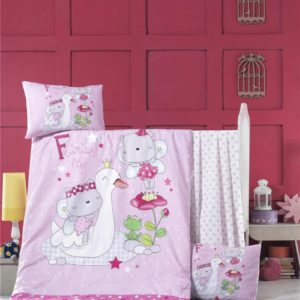 купить Постельное белье для младенцев Victoria Ранфорс White Swan Розовый фото