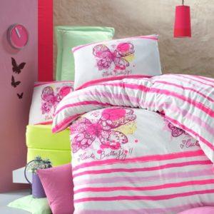 купить Постельное белье для подростков Victoria ранфорс Cute Butterfly Розовый фото
