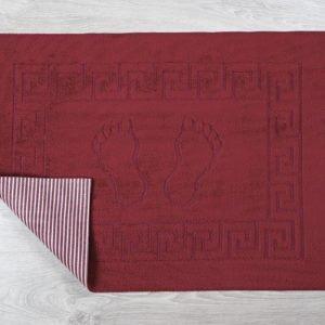 купить Коврик для ванной Lotus бордовый Бордовый фото