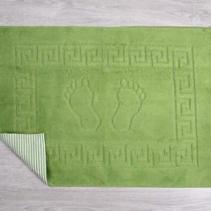 купить Коврик для ванной Lotus зеленый Зеленый фото