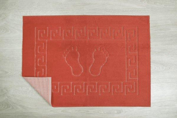 купить Коврик для ванной Lotus красный Красный фото