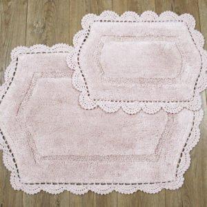 купить Набор ковриков Irya - Hena pembe Розовый фото