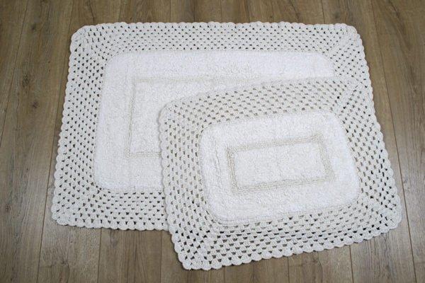 купить Набор ковриков Irya - Lizz krem Кремовый фото