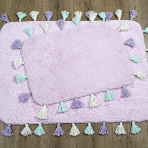 купить Набор ковриков Irya - Lucca pembe Розовый фото