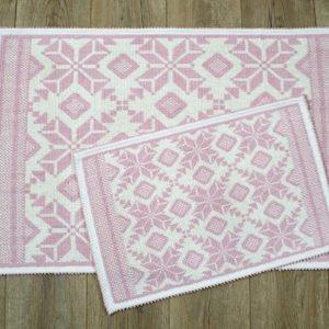 купить Набор ковриков Irya - Marlina pudra Розовый фото