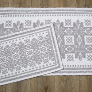 купить Набор ковриков Irya - Palmed bej Серый фото
