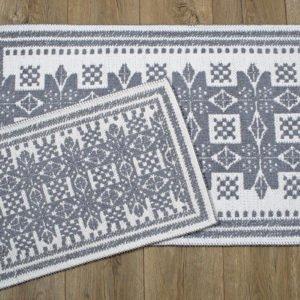 купить Набор ковриков Irya - Palmed gri Серый фото
