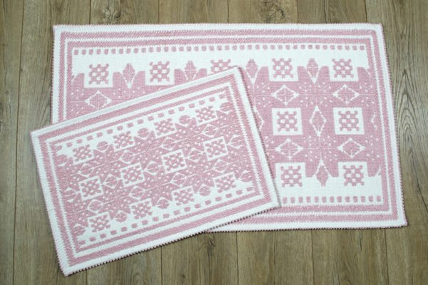купить Набор ковриков Irya - Palmed pudra Розовый фото
