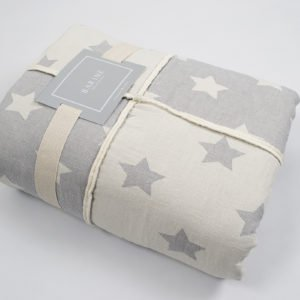 купить Плед микроплюш Barine Star Patchwork throw grey Серый фото
