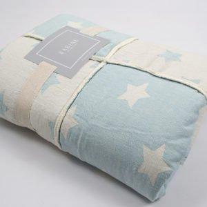 купить Плед микроплюш Barine Star Patchwork throw mint Голубой фото