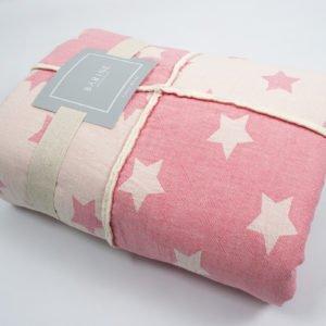 купить Плед микроплюш Barine Star Patchwork throw pink Розовый фото