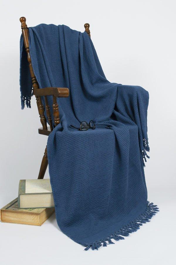 купить Плед-накидка Buldans Bohem indigo Синий фото