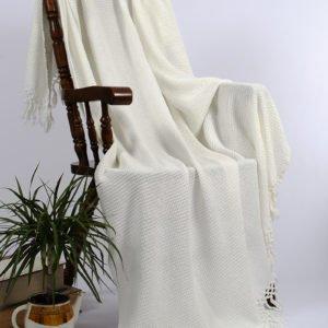 купить Плед-накидка Buldans Bohem off white Кремовый фото