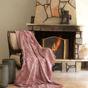 купить Плед-накидка Eponj Home Buldan Keten Linen kiremit Коричневый фото