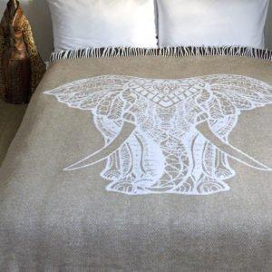 купить Плед Lotus Zeus - Elephant бежевый Бежевый фото