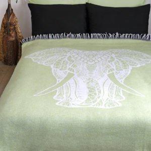 купить Плед Lotus Zeus - Elephant салатовый Зеленый фото