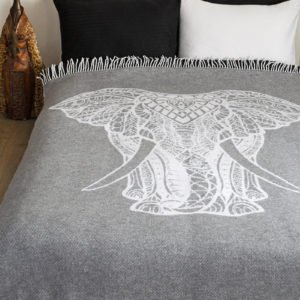 купить Плед Lotus Zeus - Elephant серый Серый фото