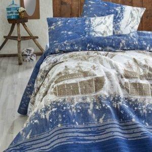 купить Покрывало пике Eponj Home Pusula k.mavi Синий фото