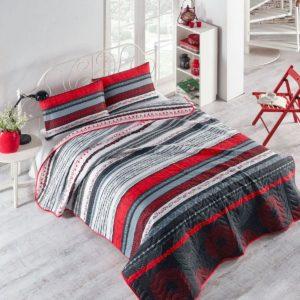 купить Покрывало стеганное с наволочками Eponj Home Efried kirmizi Красный фото