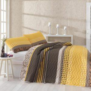 купить Покрывало стеганное с наволочками Eponj Home Miranda Sari Желтый фото