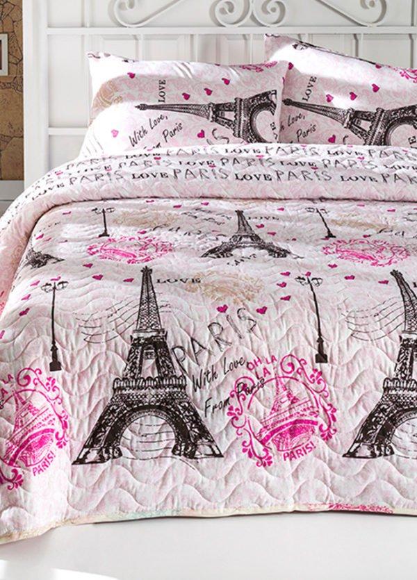 купить Покрывало стеганное с наволочкой Eponj Home Fromparis pembe Розовый фото