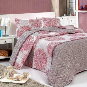 купить Покрывало стеганное с наволочкой Eponj Home Roma fusia Розовый фото