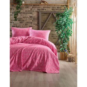 купить Покрывало с наволочками Eponj Home пике жаккард Leonar fusya Розовый фото