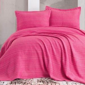 купить Покрывало с наволочками Eponj Home пике Laden fusya Розовый фото