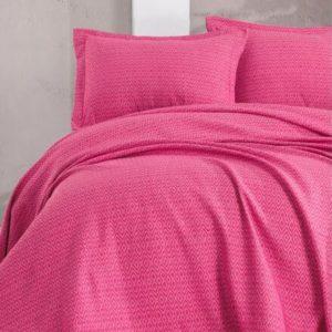 купить Покрывало с наволочками Eponj Home пике Venus fusya Розовый фото