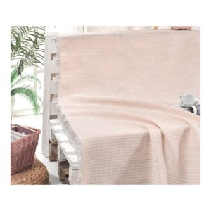 купить Покрывало хлопковое Eponj Home Cizgili Pudra Розовый фото