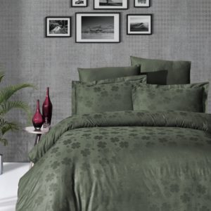 купить Постельное белье First Choice жаккард clover haki Зеленый фото