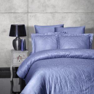 купить Постельное белье First Choice жаккард siray indigo Синий фото