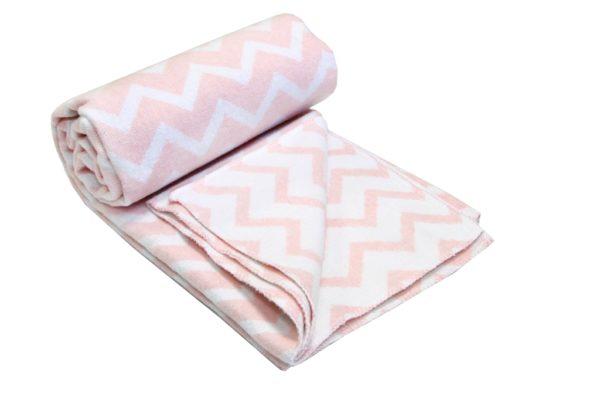 купить Детский Плед-Одеяло Vladi Зигзаг 100*140 розовый Розовый фото